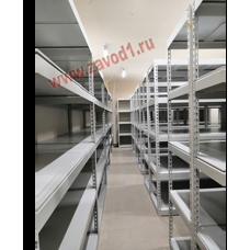 Стеллаж МКМ-С-2,5(616) 5 полок, металлические сплошные (ВхШхГ) 2500х(1210/1535/1830)х616мм. новинка