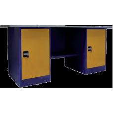Верстак двухтумбовый, две тумбы с дверцами ВП-5 (860х1600/1900х685)