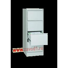 Шкаф картотечный КР-4 (4 ящика) 1310х485х600 (под заказ 7-10 р. д)