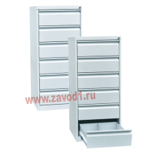 Шкаф картотечный КР- 6 (6 ящиков по 2 отделения под формат А-5) 1190х525х585 (под заказ 7-10 р.д)
