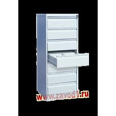 Шкаф картотечный КР-7-2 (7 ящиков по 2 отделения под формат А-5) 1370х525х585 (под заказ 7-10 р.д)
