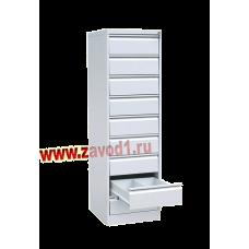 Шкаф картотечный КР- 9 (9 ящиков по 2 отделения под формат А-5) 1730х525х585 (под заказ 7-10 р. д)