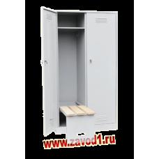 Шкаф для одежды ШР-22/800 СЛ с откидной скамьей верх липа. (Сварной),(1860х800х500)