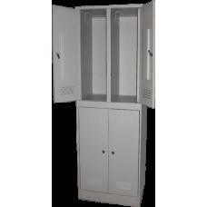 Шкаф для одежды ШР - 24 на 4 отделения (сварной) (1860х600/800х500)