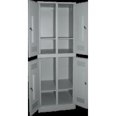 Шкаф для одежды ШРП-24+П на 4 отделения (сварной) (1860х600/800х500)