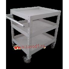 Тележка транспортировочная Т-(МК/м) 910х766*х500/600 (ВхШхГ) 3 металлические полки