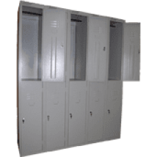 Сборный модулем шкаф для одежды ШРС-12/5 секций на 10 отделений (1850х1500х500)