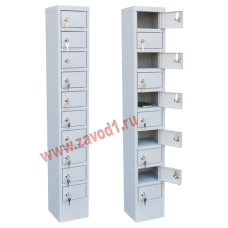 Шкаф для телефонов на 10 ячеек ШМ-10 (1140х200х200)мм.  (ВхШхГ) Ячейка (80х130х180)мм. Сварной.