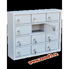 Шкаф для телефонов на 12 ячеек ШМ-12 (510х650х150)мм.  (ВхШхГ) Ячейка (100х170х115)мм. Сварной.