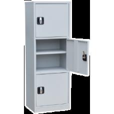 Архивный хозяйственный шкаф ША-03 (1276х450х350) 3 отделения (Сварной)