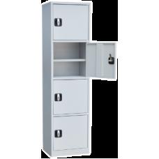 Архивный хозяйственный шкаф ША-04 (1675х450х350) 4 отделения (Сварной)