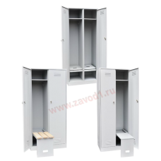 Шкаф для одежды ШР-22/800 с откидной скамьей (Сварной),(1860х800х500)