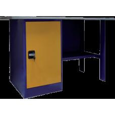 Верстак однотумбовый, тумба с дверцей ВП-2 (860х1200/1400/1600х685)