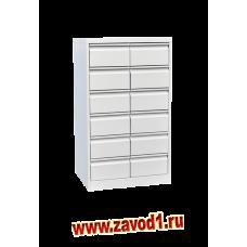 металлический картотечный шкаф КР-12 на 12 ящиков (1200х700х500) (под заказ 7-10 раб. дней)