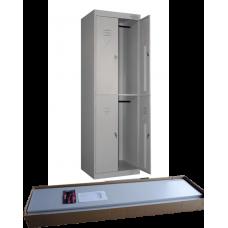 Шкаф для одежды ШРК-24 (4 отделения) в разобранном виде (клепка) (1850х600/800х490)