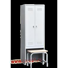 Шкаф для одежды ШР-22 с выдвижной скамьей (сварной) (1860х600/800х500)