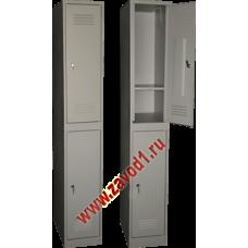 Шкаф для одежды ШР-12 с нижней полкой в каждом отделении (сварной) (1860х300/400х500)