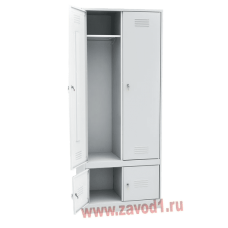 Шкаф для одежды ШР-22 с нижним отделением для обуви (сварной) (2010х600/800х500). новинка