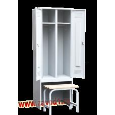 Шкаф для одежды ШР-22 с выдвижной скамьей (сварной) (1860х600/800х500). новинка
