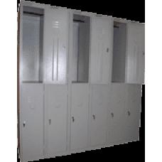 Сборный модулем шкаф для одежды ШРС-12/6 секций на 12 отделений (1850х1800х500)